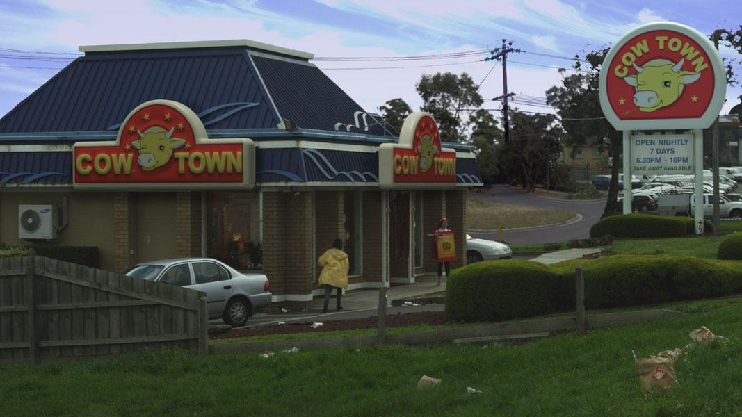 The Cow Town : Burger joint matte/3D composite