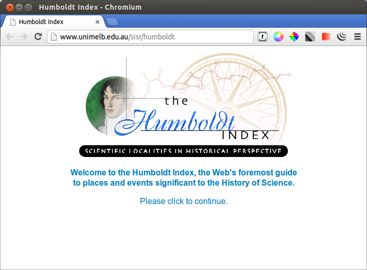 Home page design - Humboldt Index project